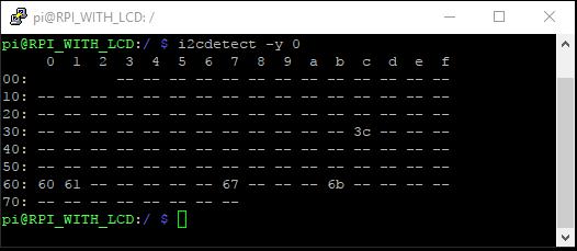 Testing I2C